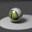 Green Dragon Eye Closeup (Blender)