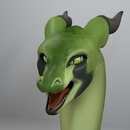 Green Dragon Finished Bust (Blender)